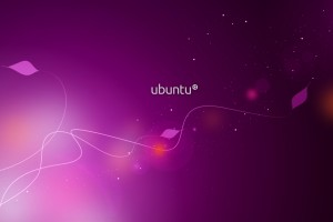 Ubuntu Purple Widescreen Wallpaper