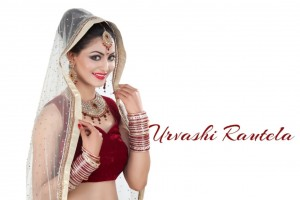 Urvashi Rautela In Bride Dress Wallpaper