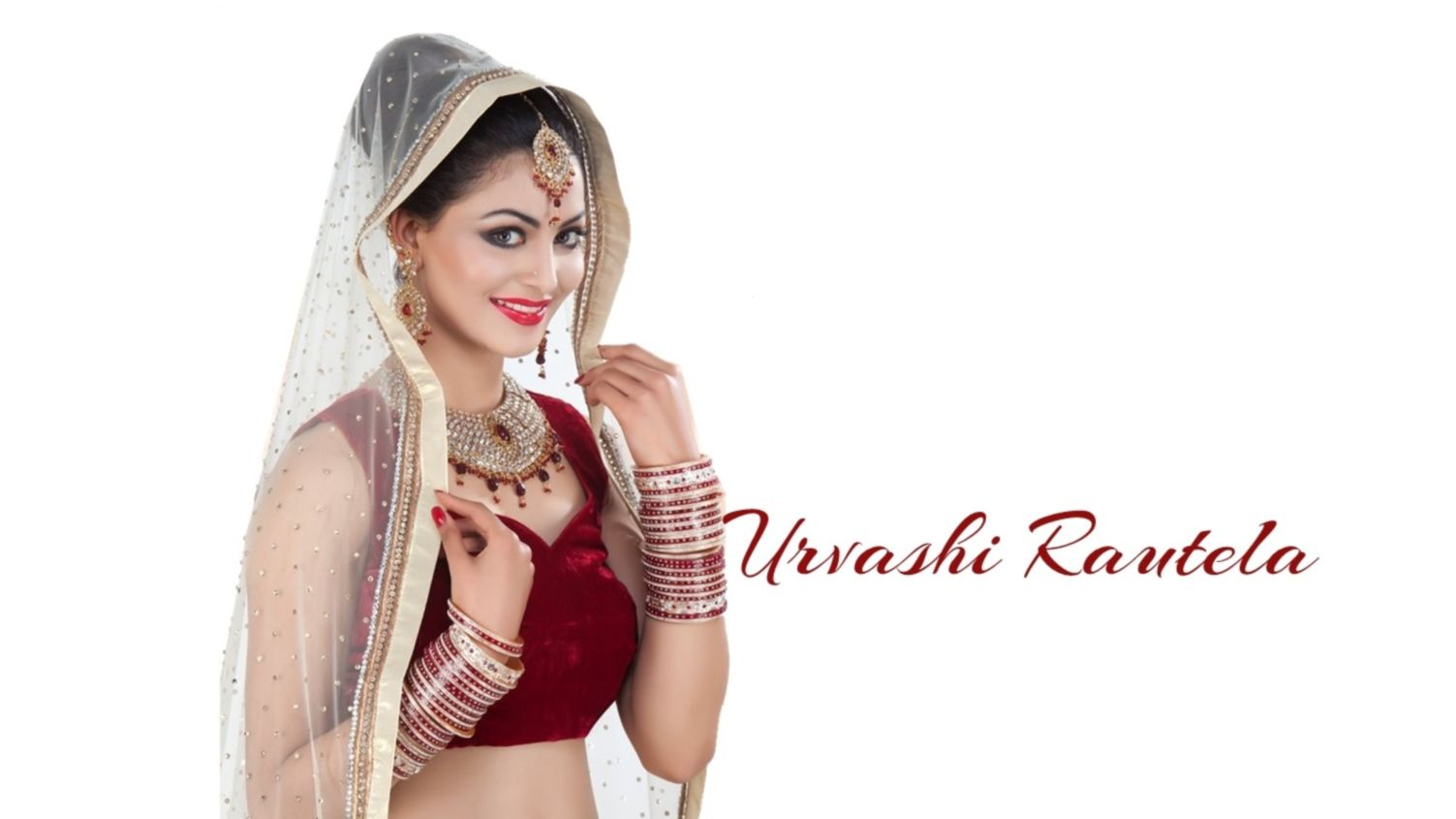 Download free HD Urvashi Rautela In Bride Dress Wallpaper, image