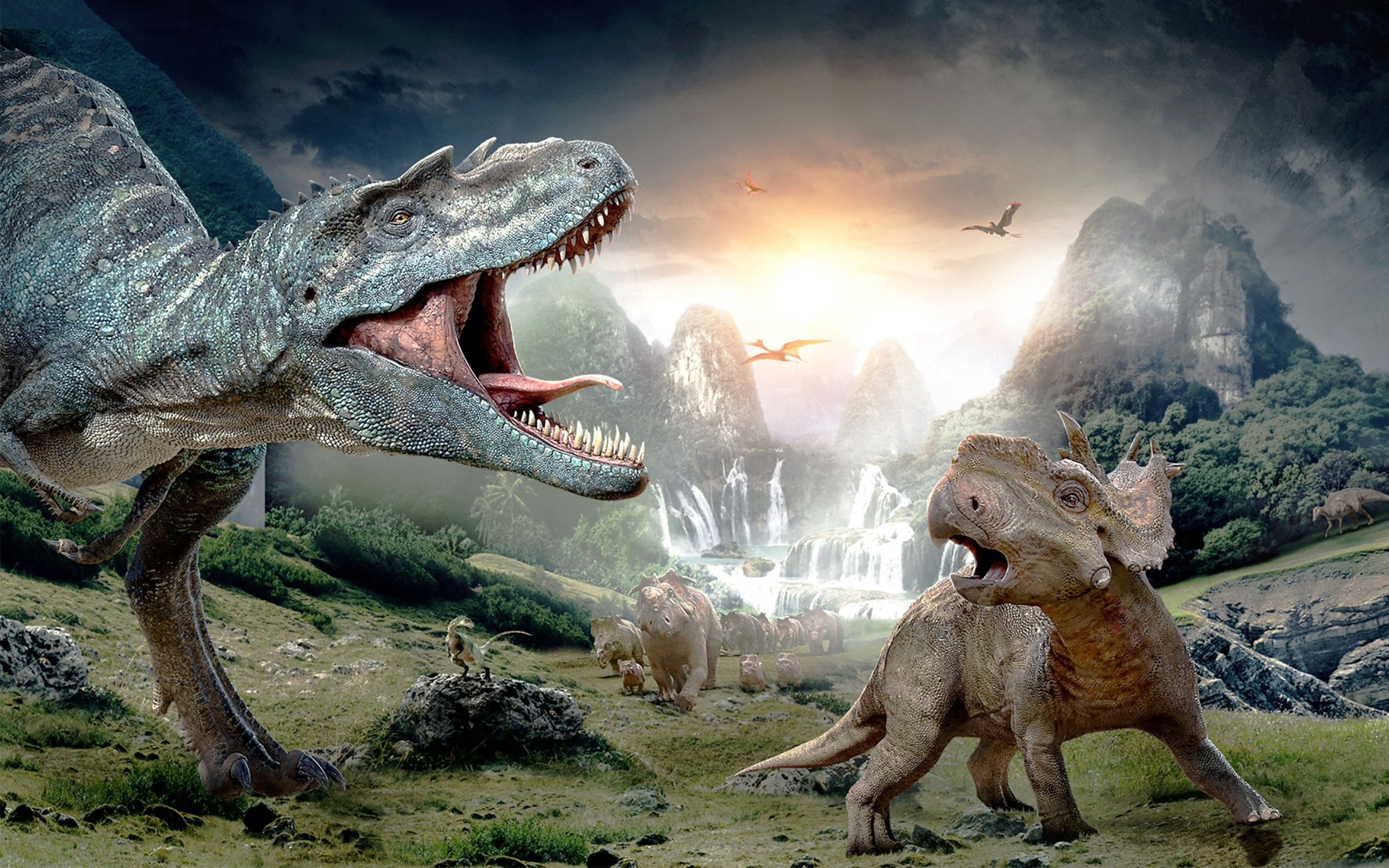 Download free HD Walking With Dinosaurs 3D Wide Wallpaper, image