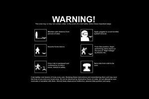 Warning Funny Wallpaper