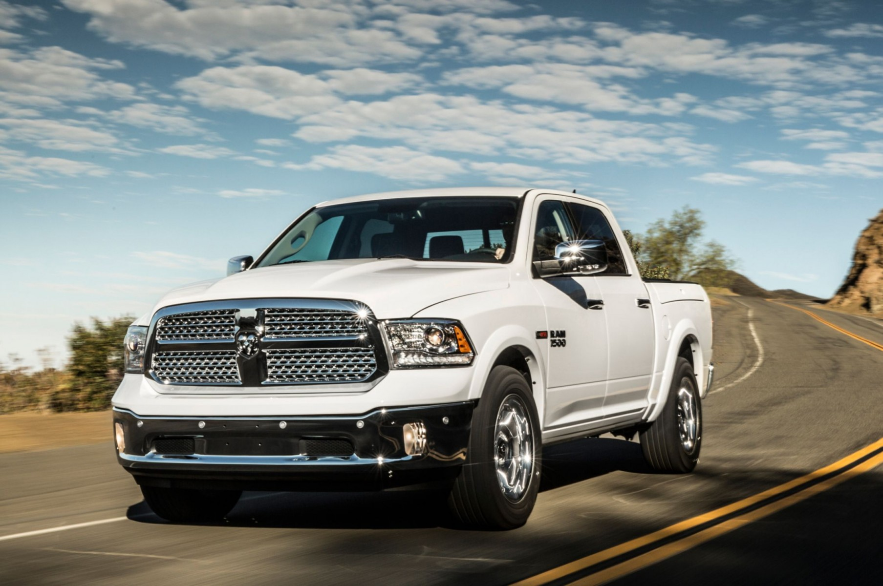 White Dodge Pickup Trucks 2014 Wallpaper