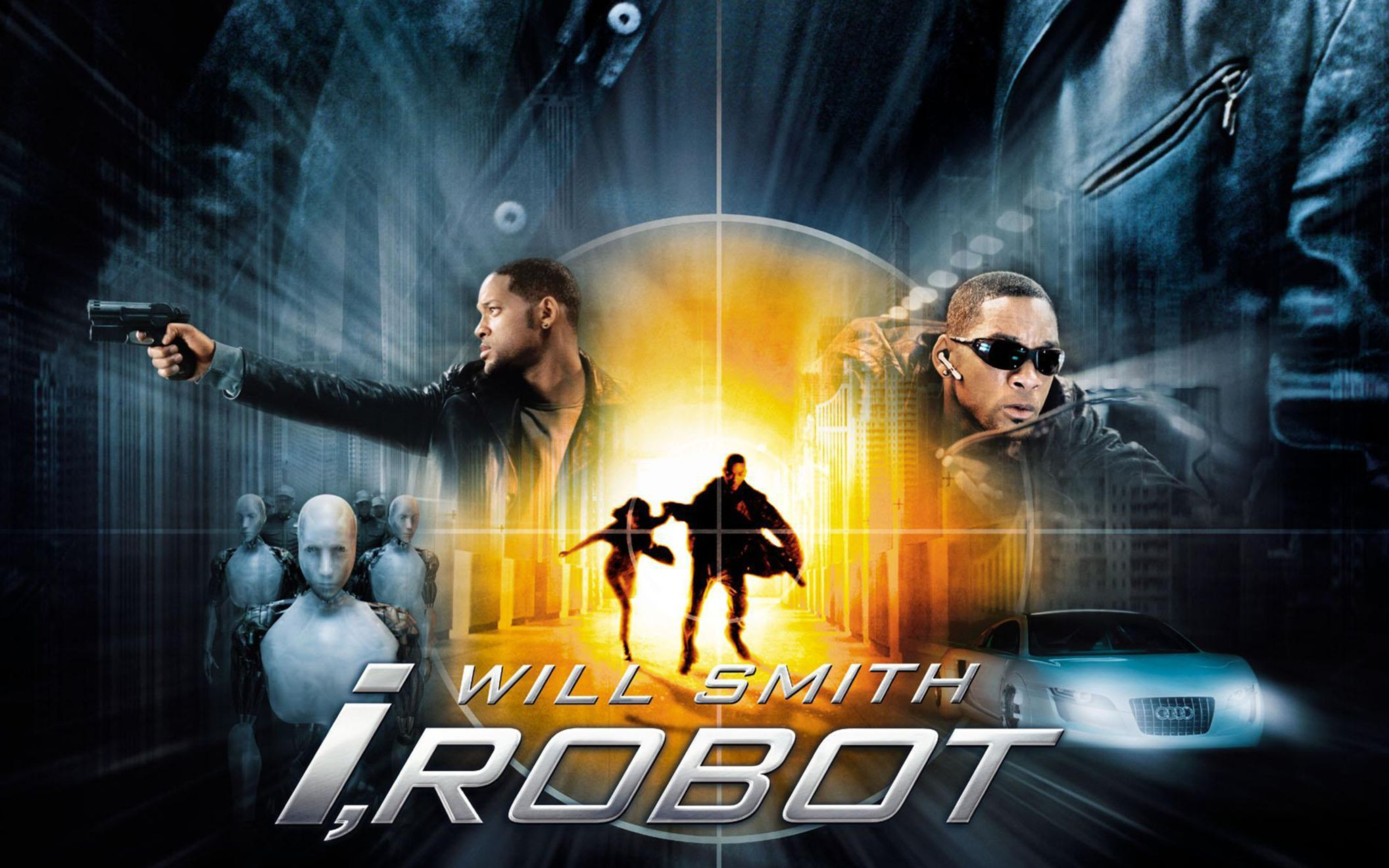 Download free HD Will Smith I Robot Wide Wallpaper, image