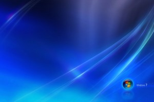 Windows 7 Blue Dark Wide Wallpaper