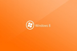 Windows 8 Orange Background Wallpaper