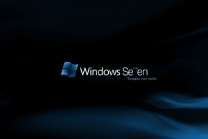 Windows Seven Dark Normal Wallpaper