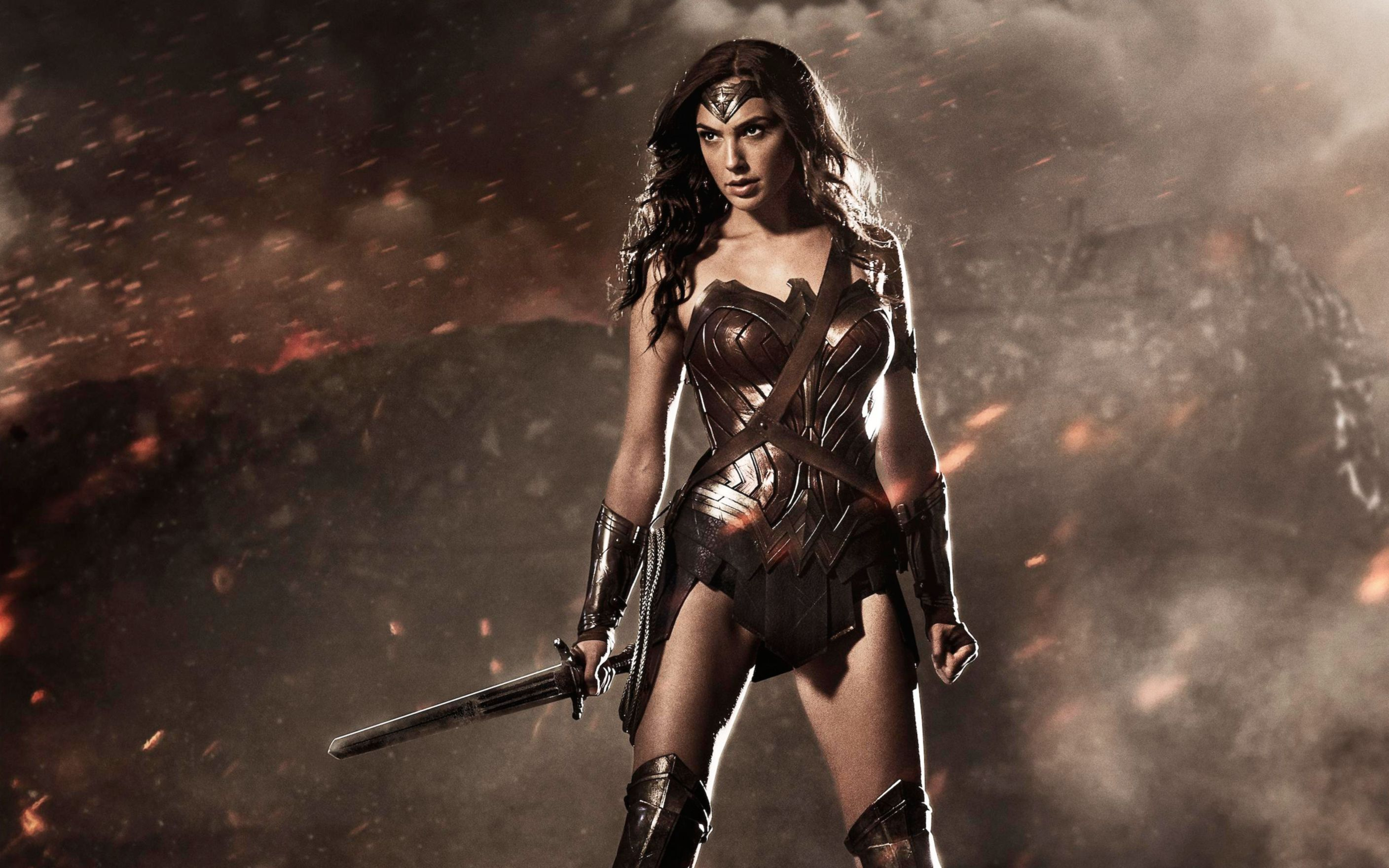 Download free HD Wonder Woman in Batman V Superman Wide Wallpaper, image
