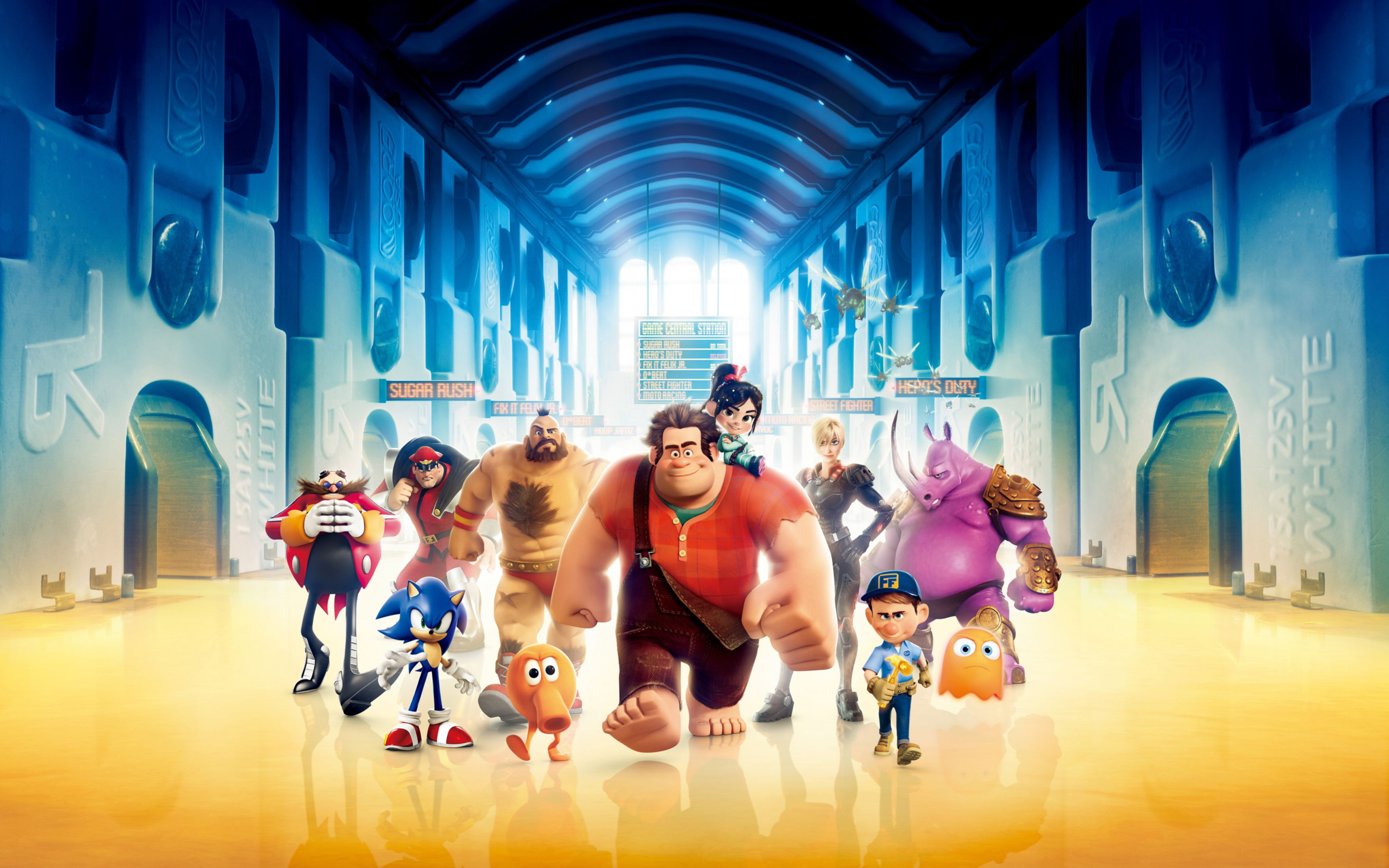 Download free HD Wreck It Ralph 3D Movie Wide Wallpaper, image