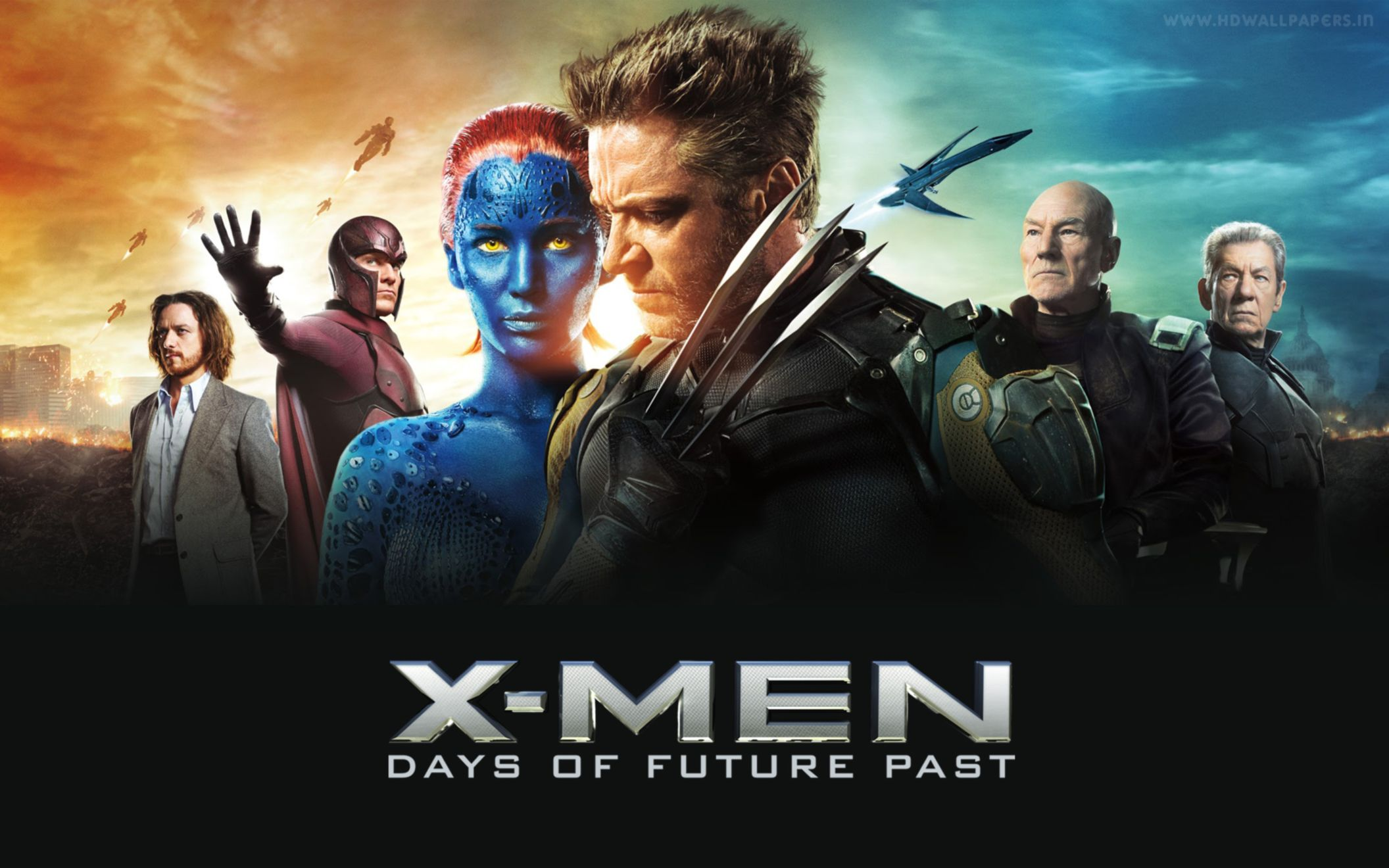 x men days of future past banner wide wallpaper: desktop hd