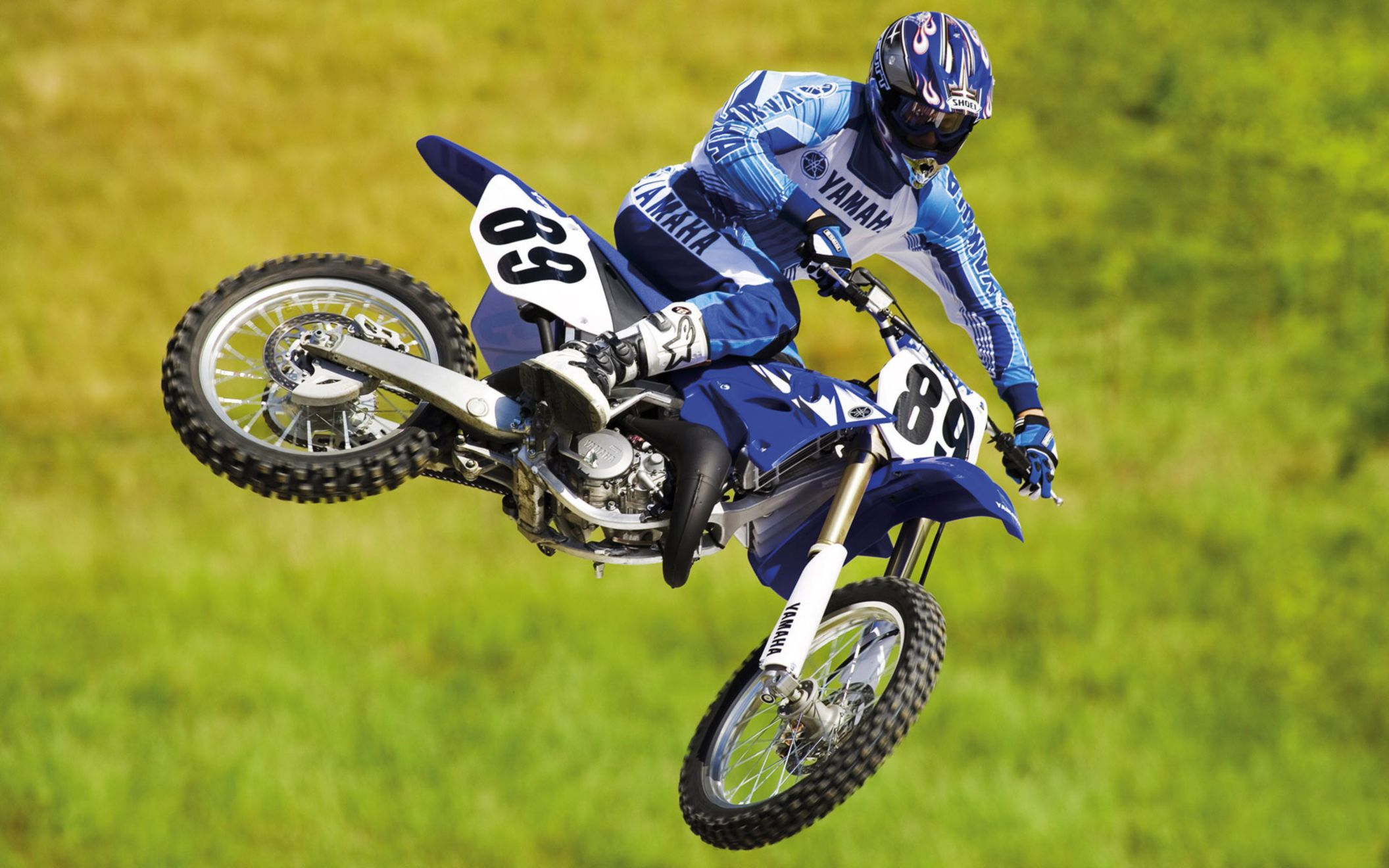Download free HD Yamaha Motocross Bike Wide Wallpaper, image