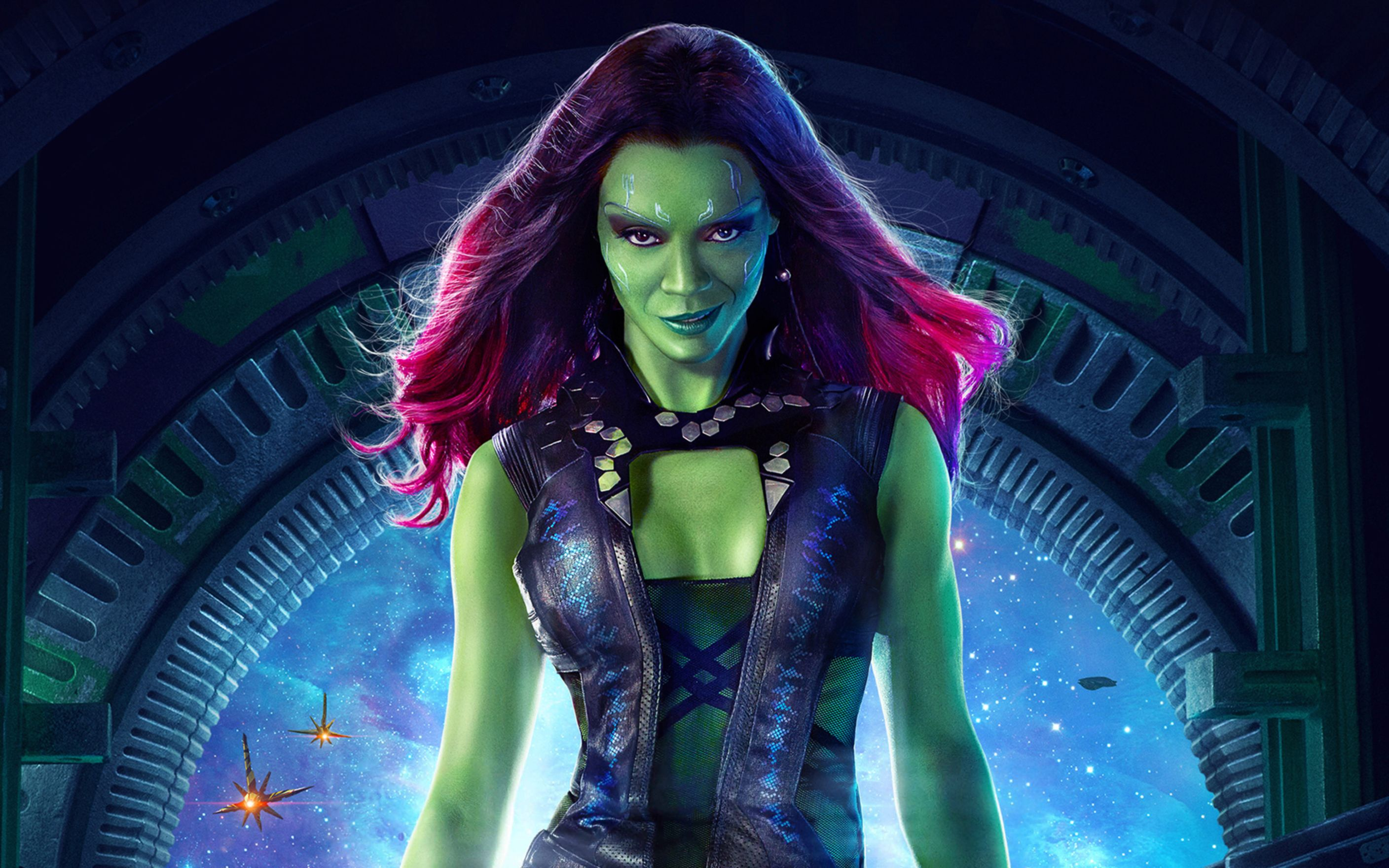 Download free HD Zoe Saldana as Gamora Wide Wallpaper, image